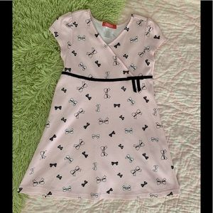 Girls Gymboree Pale Pink Black Bows Dress Size 6